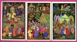 Russisch-Folktale-von-Kurkin-Palekh-Menge-von-5-Vintage-Postkarten-221