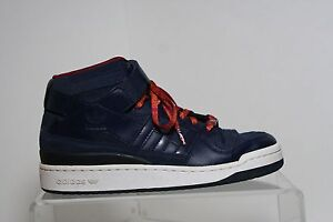 new concept 019c5 c6dfa Image is loading Adidas-Forum-Mid-Cleveland-Cavs-08-039-Sneaker-