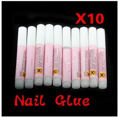 10 X Water Proof Super Strong Fake Nail Glue For Acrylic Nails  UV Gel Nails