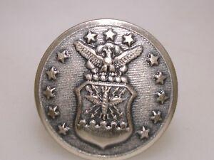 WWII-PAT-DTD-1948-U-S-AIR-FORCE-EAGLE-SHIELD-amp-STARS-SCREW-BACK-SILVER-PIN