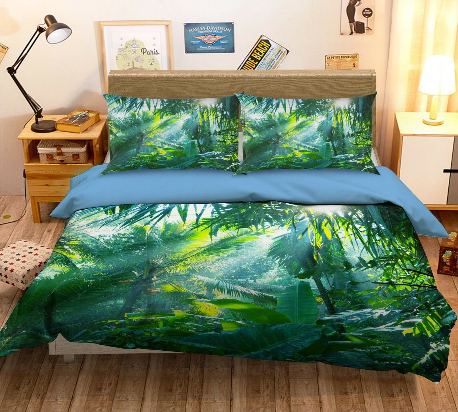 3d Tropicale verde Foresta 5 LETTO FEDERE steppe duvet set soffitto Single de