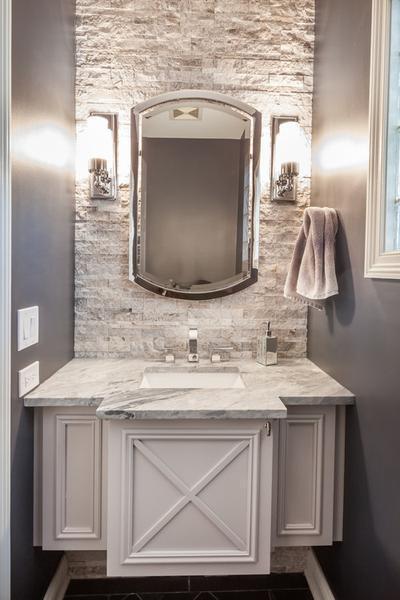 Bathroom Arched Metal Wall Mirror Large