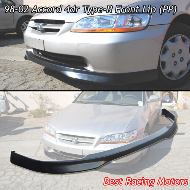 Type-R Style Front Bumper Lip (PP) Fits 98-02 Honda Accord 4dr