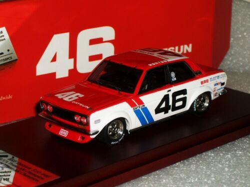 BRE DATSUN 510 #46 1972 SCCA TRANS-AM CHAMP SIGNED LIM TRUESCALE TSM10SS1 1//43