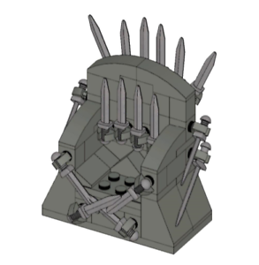 The-Iron-Throne-Custom-Lego-INSTRUCTIONS-ONLY