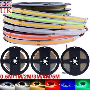 COB LED Strip Light 0.5- 5M Uniform Glow Bendable Tape Light 224LEDs/M Cabinet