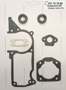 Gasket Set With Seals Fits Husqvarna Chainsaw 51 55 Replaces 501 76 18-02