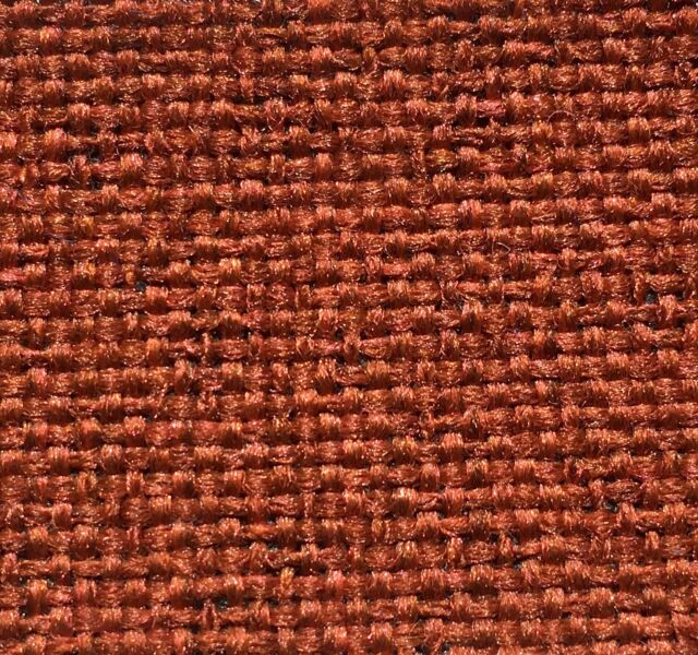 Best Rust Orange Tweed Fabric Upholstery For Mid Century Modern