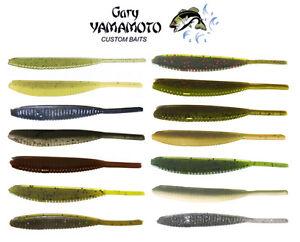 Gary-Yamamoto-Shad-Shape-Worm-4-034-10Pk-Soft-Plastic-Bass-Fishing-Worm-Bait