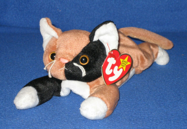 31cb3fb7aa5 Ty Beanie Baby Chip The Calico Cat 4th Generation 1996 Style 4121 ...