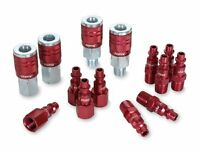 Legacy A73458d Color Connex Type D 14 Piece. 1/4 In. Red Coupler And Plug Kit ,