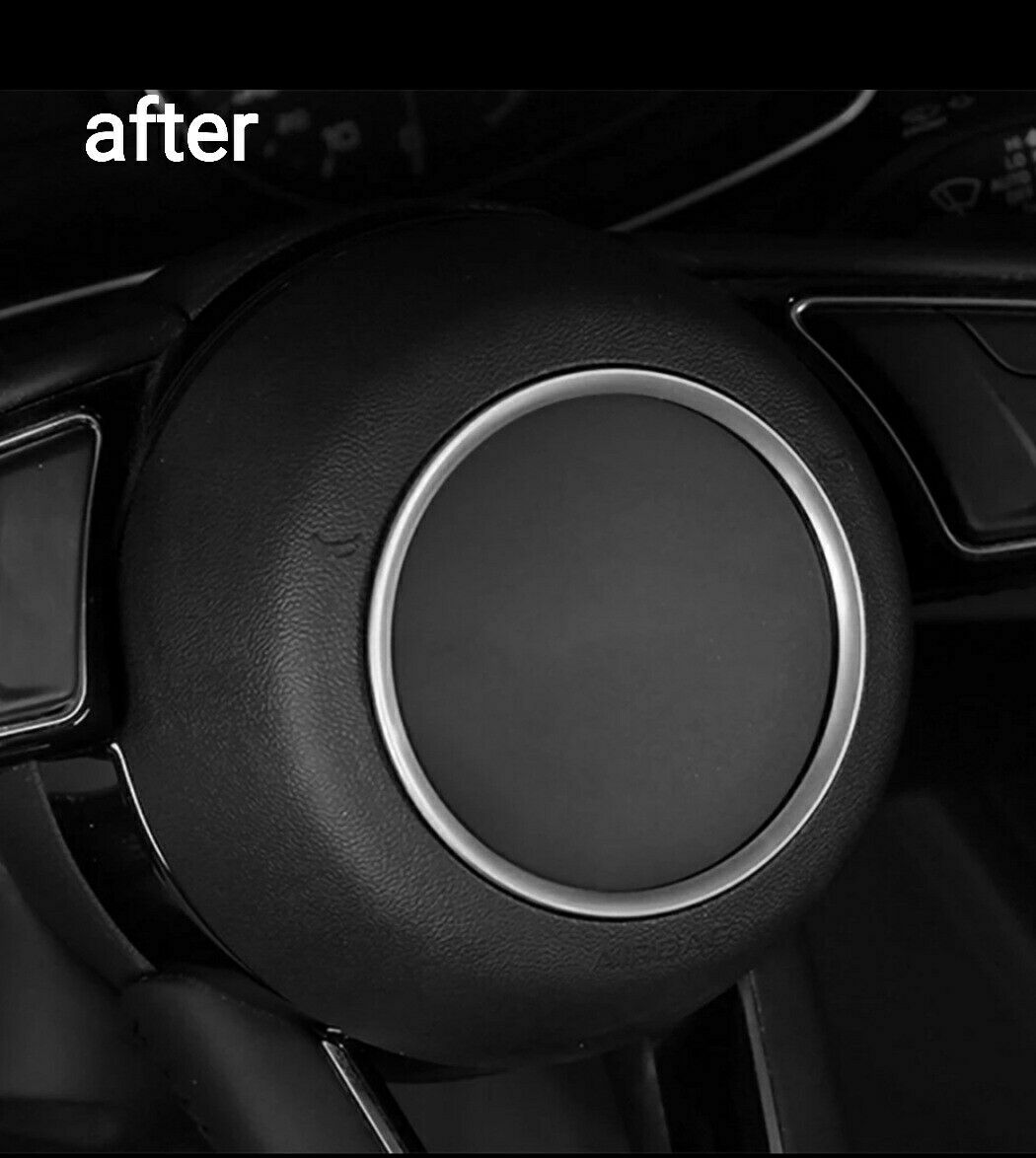 Steering Wheel Cover Fits Audi A3 8p Real Leather Seam White For Sale Ebay