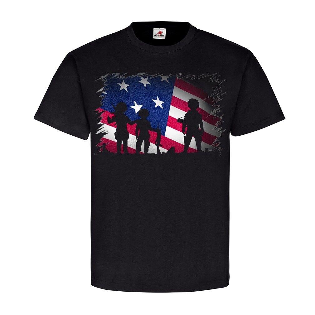 c2aca34924b8fc US G Army Soldaten Militär Flagge Fahne Sterne T Shirt I Einheit ...