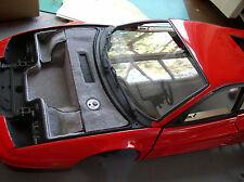 Pocher 1/8 Ferrari Testarossa Real Carpeting Trunk Kit Upgrade Transkit