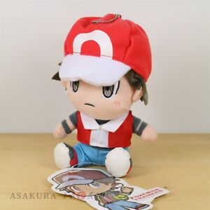 Pokemon-Center-Original-sucesivos-entrenadores-Muneco-de-peluche-de-Pokemon-Rojo-Cadena