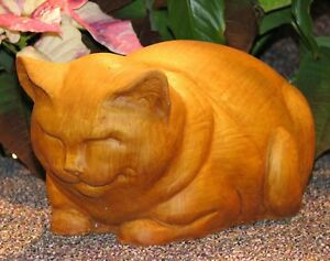 Charmant Image Is Loading Cast Stone Cement Fat Cat Outdoor Garden Statue