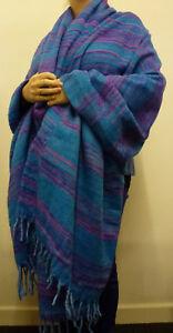 Châle Chaud Indien souple acrylique Couverture en laine   Grand ... 0331e6e2b68