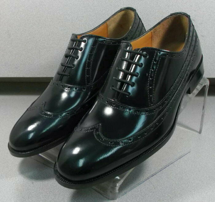 152641 FT50 Chaussures Hommes Taille 10.5 NOIR EEE lacets en cuir Johnston Murphy
