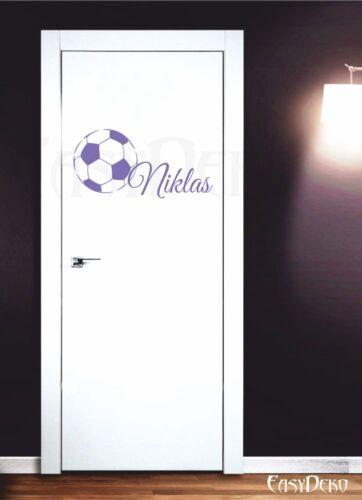 Football Desire Name Wall Tattoo Boy Sports Nursery Stickers Deco Stickers