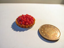 DOLLS HOUSE MINIATURE TART - STRAWBERRY
