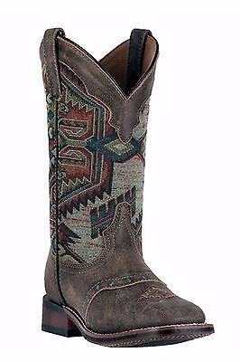 Women's Laredo Square Toe Scout Aztec Leather Cowboy Boots 6-9 M 5647