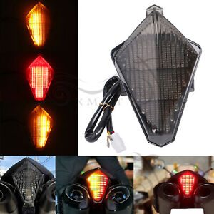 LED Integrated Brake Tail Light Turn Signals For Yamaha YZF R1 2007-2008 Smoke