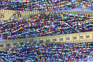 Opaque-All-Mixed-Up-Color-039-s-11-0-Glass-Seed-Beads-Craft-Jewelry-Making-Hank