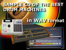 Sample CD of the analog Drum Machines for ex Linn Emu Akai Roland Tr 808 909 Eko