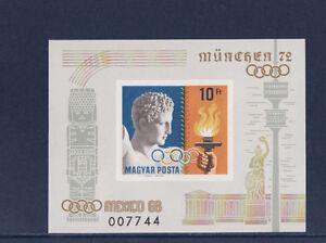 Hongrie-bloc-jeux-olympiques-Mexico-1968-Munich-1972-num-BF-75-ND