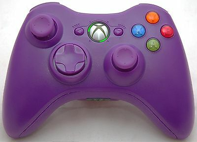 NEW Microsoft XBox 360 Purple Wireless Video Game Controller cordless handheld