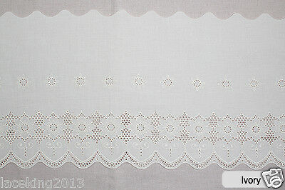 "1yard Broderie Anglaise cotton eyelet lace trim 11.4"" (29cm) YH1502 laceking2013"