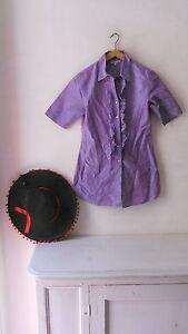 Lot Chemisier Soie 100% Couleur Lavande Shirt Frou Frou Chapeau Hat Old Style Ipcqeofe-07213534-307545457