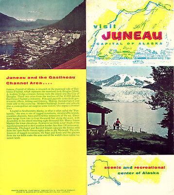 Juneau Alaska Vintage Travel Brochure Color Photos Pictorial Map Circa 1950s 60s Ebay