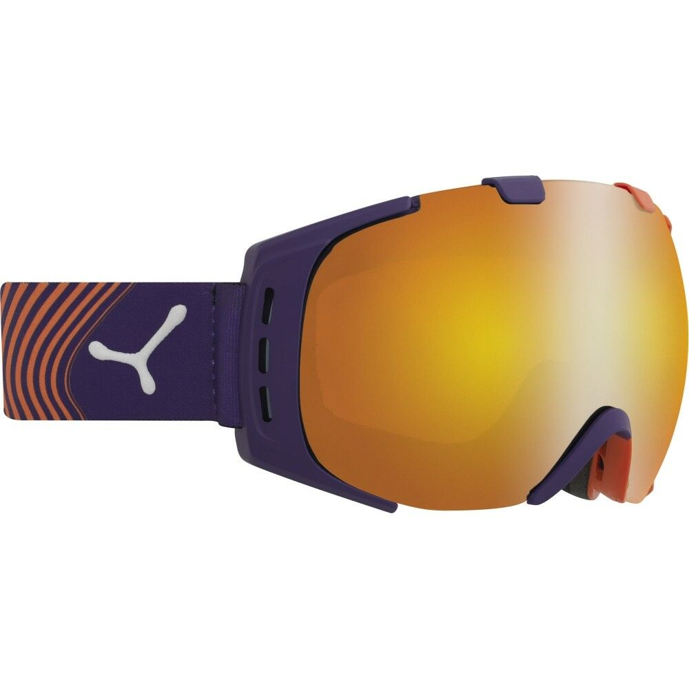 Ski Helm Cebe Skibrille Origins CBG38 orange purple