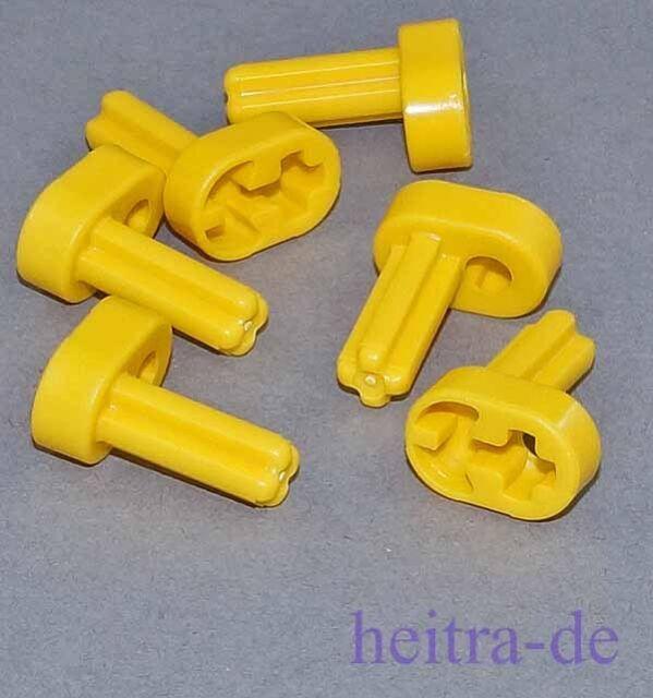 LEGO Technik - 6 x Kurbelwelle gelb / Yellow Crank Shaft / 2853 NEUWARE