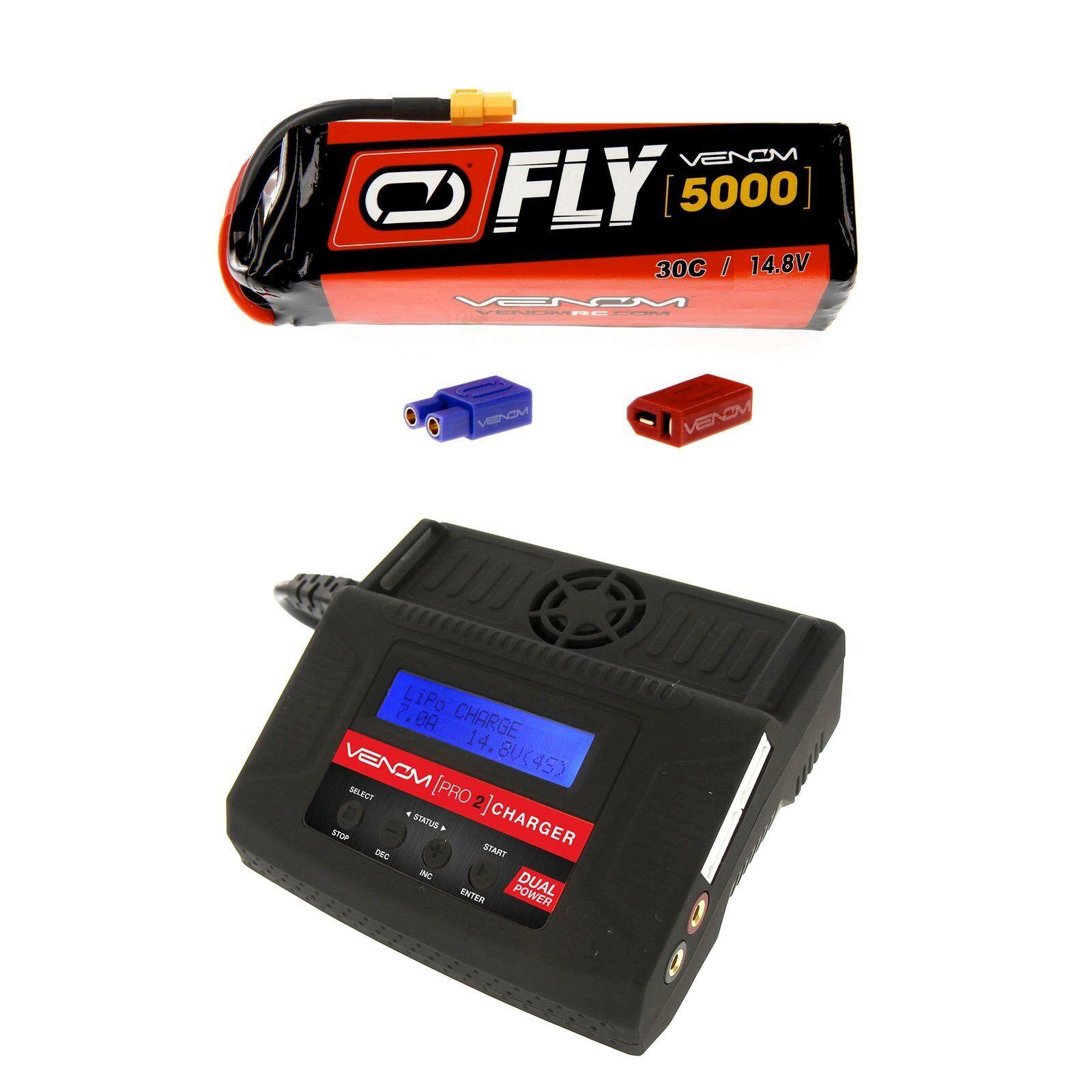 Venom volar 30C 4S 5000mAh 14.8V Batería Lipo Y Cargador Combo Pro 2