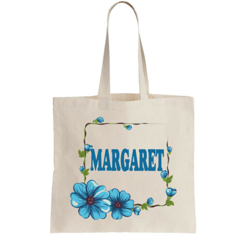 Margaret Ladies Personalised Shopping Bag Tote can amend to ANY NAME Shopper