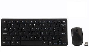 Technotech Mini Wireless Keyboard and Mouse Combo with Keyboard Cover (Black)