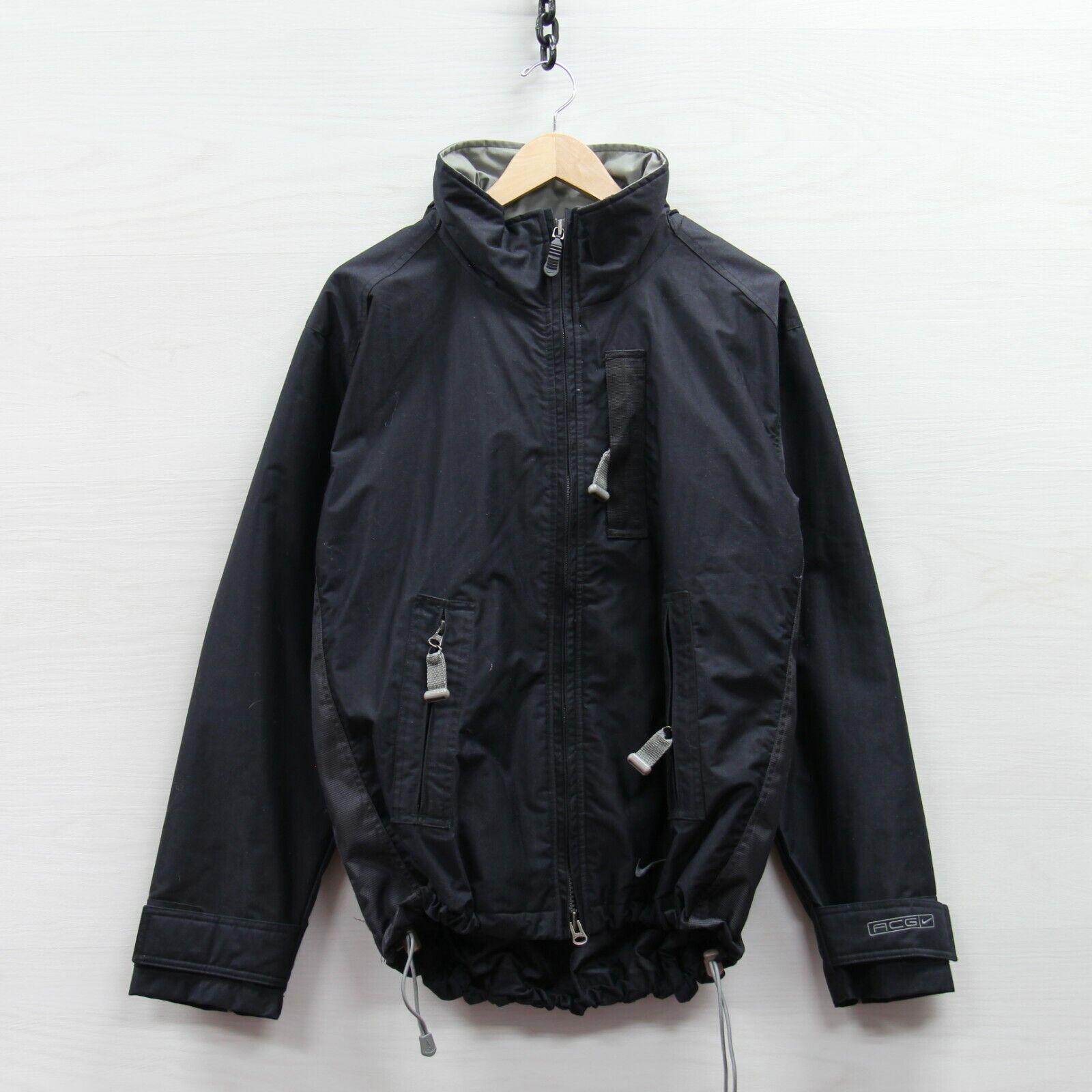 Vintage Nike ACG Light Ski Jacket Womens Large Black All Conditions Gear Swoosh