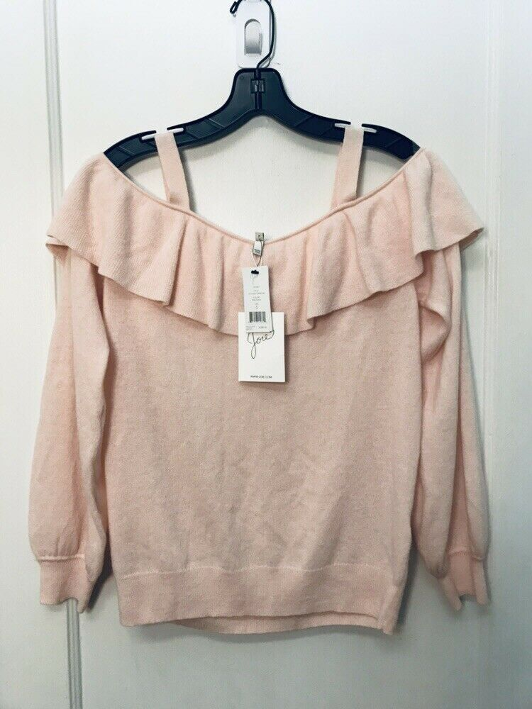 JOIE DELBIN  COLD SHOULDER RUFFLED CASHMERE SWEATER NWT Größe S  288.00