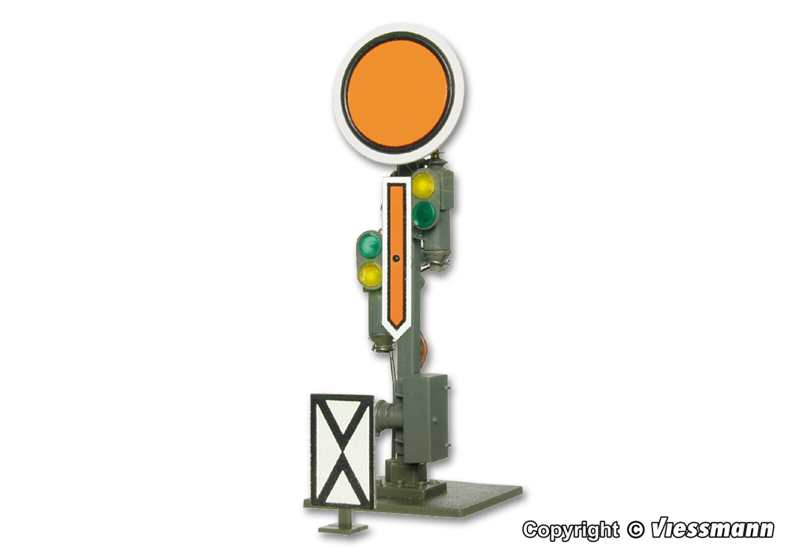 4510 VIESSMANN ESCALA H0 Semaphore distant signal, fixed disk, movable arms (c7)