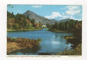Ballinahinch River Castle & Ben Lettery Mountain Galway Ireland Postcard 910a
