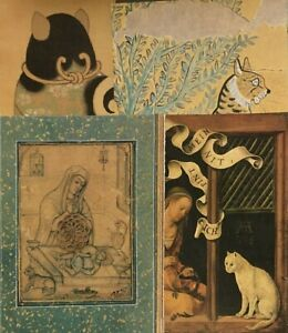 "Antique Cat Art Print Ukiyo-e Woodblock ** 9.5/"" x 12/"" ** SEE VARIETY"