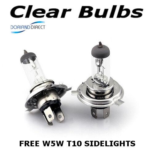 W5W Sidelights D H4 100w 472 Clear Standard Xenon Car Headlight Bulbs 12v