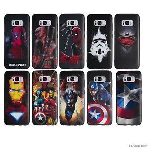 Détails sur Marvel Coque pour Samsung Galaxy S6 S7 Edge S8 Plus Silicone  Housse Etui 55222be7afa