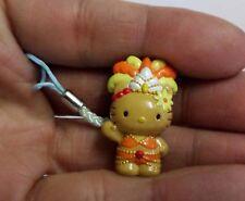 Hello Kitty Cosplay Dancing Show Girl Carnival Dance Phone Charm Strap Orange