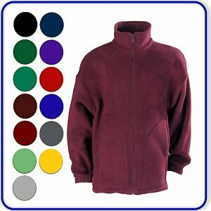 Good-Quality-School-polaire-Fleece-Jacket-Coloured-Zip-Boys-Girls-Ages-3-13-4200