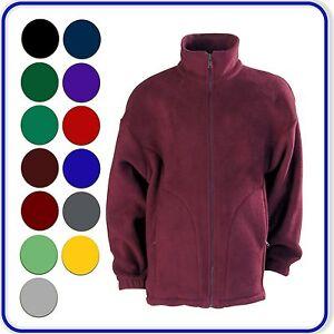 Good-Quality-School-Polar-Fleece-Jacket-Coloured-Zip-Boys-Girls-Ages-3-13-4200