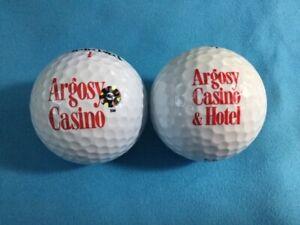 Details About 2 Logo Golf Balls Argosy Casino Titleist Spalding