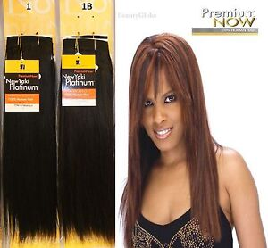 Image Is Loading 100 Human Hair Extension Straight Yaki Platinum Weave